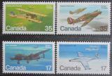 Poštovní známky Kanada 1980 Letadla Mi# 784-87