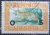 Poštovní známka Libérie 1920 Leopard úřední Mi# 114