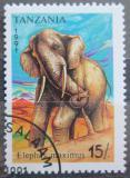 Poštovní známka Tanzánie 1991 Slon africký Mi# 1015