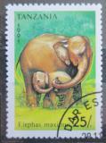 Poštovní známka Tanzánie 1991 Slon africký Mi# 1016