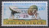 Poštovní známka Mosambik 1975 Satelitní stanice přetisk Mi# 577