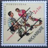 Poštovní známka Mosambik 1975 Pozemní hokej přetisk Mi# 581