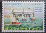 Poštovní známka Mosambik 1975 Plachetnice přetisk Mi# 582