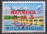 Poštovní známka Mosambik 1975 Letadlo nad mostem přetisk Mi# 588
