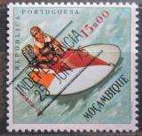 Poštovní známka Mosambik 1975 Závodní člun přetisk Mi# 591
