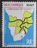 Poštovní známka Mosambik 1990 Mapa Jižní Afriky Mi# 1192