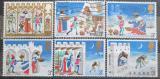 Poštovní známky Velká Británie 1973 Vánoce Mi# 639-44