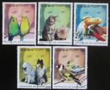 Poštovní známky Kuba 2004 Domácí zvířata Mi# 4625-29