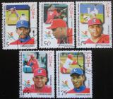 Poštovní známky Kuba 2002 Baseball Mi# 4467-71