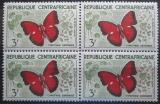 Poštovní známky SAR 1961 Motýl čtyřblok Mi# 7