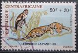 Poštovní známka SAR 1971 Opice a leopard Mi# 229 Kat 15€