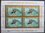 Poštovní známky Rumunsko 1978 Decebalus, INTEREUROPA Mi# Block 151