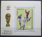 Poštovní známka Rumunsko 1981 MS ve fotbale Mi# Block 184
