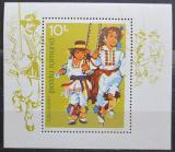 Poštovní známka Rumunsko 1977 Tanečníci Mi# Block 145