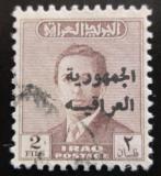 Poštovní známka Irák 1958 Král Faisal II. přetisk Mi# 246