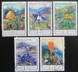 Poštovní známky SSSR 1976 Květiny Kavkazu Mi# 4545-49