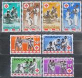 Poštovní známky Rwanda 1963 Mezinárodní červený kříž, 100. výročí Mi# 44-51