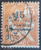 Poštovní známka Francouzské Maroko 1914 Protektorát přetisk Mi# 6