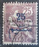 Poštovní známka Francouzské Maroko 1921 Protektorát přetisk Mi# 9