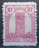 Poštovní známka Francouzské Maroko 1943 Hassanova věž Mi# 188