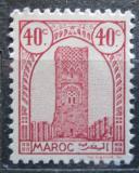 Poštovní známka Francouzské Maroko 1943 Hassanova věž Mi# 190