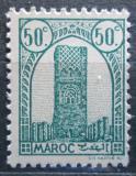 Poštovní známka Francouzské Maroko 1943 Hassanova věž Mi# 191
