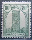 Poštovní známka Francouzské Maroko 1943 Hassanova věž Mi# 194