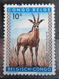 Poštovní známka Belgické Kongo 1959 Antilopa koňská Mi# 343