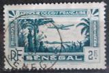 Poštovní známka Senegal 1935 Letadlo nad krajinou Mi# 153