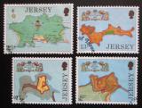 Poštovní známky Jersey, Velká Británie 1980 Pevnosti Mi# 212-15