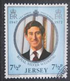 Poštovní známka Jersey, Velká Británie 1972 Princ Charles Mi# 75