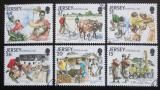 Poštovní známky Jersey, Velká Británie 1991 Pomoc v zahraničí Mi# 553-58 Kat 6.50€