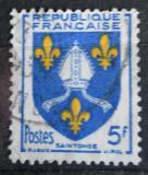Poštovní známka Francie 1954 Znak Saintonge Mi# 1031