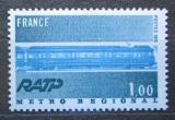 Poštovní známka Francie 1975 Pařížské metro, 75. výročí Mi# 1928
