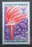 Poštovní známka Francie 1968 ZOH Grenoble, olympijský oheň Mi# 1612