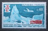 Poštovní známka Francie 1968 Letadlo nad Jižním pólem Mi# 1639