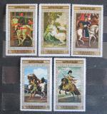 Poštovní známky Jemen 1968 Umění, koně Mi# 751-55 Kat 9€