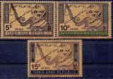 Poštovní známky Jemen 1968 Konrad Adenauer, vzácné, přetisk Kat 15€ Mi# 734-36