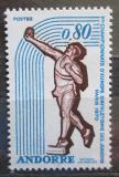 Poštovní známka Andorra Fr. 1970 ME v lehké atletice Mi# 225