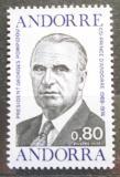 Poštovní známka Andorra Fr. 1975 Prezident Pompidou Mi# 270