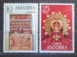 Poštovní známky Andorra Šp. 1974 Lidové umění Mi# 90-91 Kat 7.50€