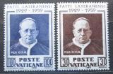 Poštovní známky Vatikán 1959 Papež Pius XI. Mi# 313-14