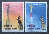 Poštovní známky Vatikán 1959 Rádiový vysílač Mi# 315-16