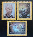 Poštovní známky Kuba 1972 Umění Mi# 1809-11