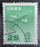 Poštovní známka Japonsko 1953 Letadlo a pagoda Mi# 598 A