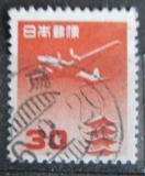 Poštovní známka Japonsko 1953 Letadlo a pagoda Mi# 599 A