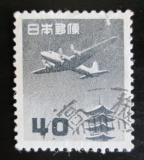 Poštovní známka Japonsko 1953 Letadlo a pagoda Mi# 600 A