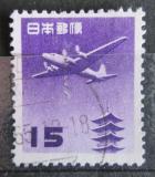 Poštovní známka Japonsko 1962 Letadlo a pagoda Mi# 791