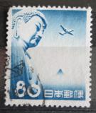 Poštovní známka Japonsko 1953 Letadlo a Budha Mi# 616