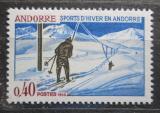 Poštovní známka Andorra Fr. 1966 Lyžařský vlek Mi# 196